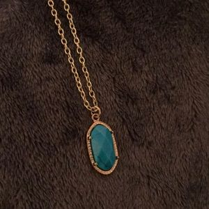 Beautiful blue and gold color handmade necklace